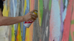 Graffiti spray paint - stock footage