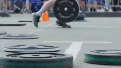 Crossfit training. Close up. Stock Footage