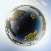 Little planet of islands at a lake Kuvituskuvat