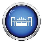 Gas burner icon - stock illustration