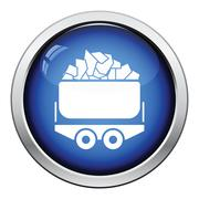 Mine coal trolley icon Stock Illustration