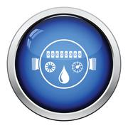 Water meter icon Stock Illustration