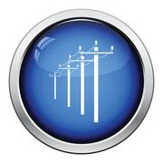 High voltage line icon - stock illustration