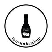 Tomato ketchup icon - stock illustration