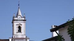 Tower bell lousã city church  Portugal Stock Footage