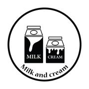 Milk and cream container icon - stock illustration