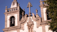 Baroque architecture Church of St. Peter in vila real portugal Stock Footage