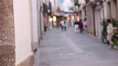 traffic historical center of vila real town Portugal - stock footage