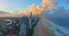 Surfers Paradise Gold Coast Stock Footage