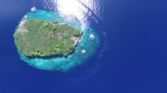 Pescador Island Philippines Aerial footage Stock Footage