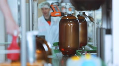 Production of beer in plastic kegs Stock Footage