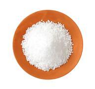 Coarse grained salt in terracotta bowl Stock Photos