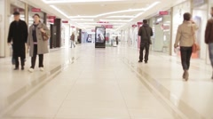 Shopping Mall Anonymous People Walking Stock Footage