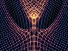 Conceptual Grid Lines - stock illustration