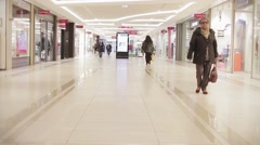 Mall People Walking Time Lapse, Loopable - stock footage