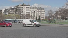 Paris Street Traffic Time Lapse, France Stock Footage