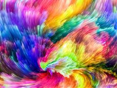 Advance of Colors - stock illustration