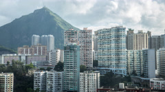 4k Timelapse Top View Of Hong Kong Apartment Buildings In A Second Tier City-Dan Stock Footage