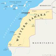 Western Sahara Political Map Piirros