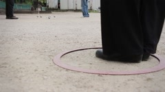 Playing Petanque, Game Of Boules Stock Footage