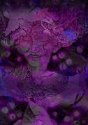 Abstract deccorative violett background with lilac fairy Stock Illustration