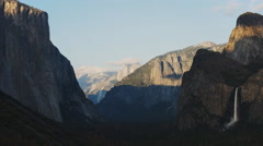 Sunset to dusk time lapse of bridalveil falls in yosemite Stock Footage