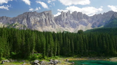 Beautiful alpine landscape with Dolomites mountains - stock footage