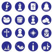 Jesus Christ,Vector icons set Stock Illustration