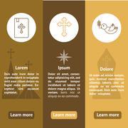 Jesus Christ,Vector icons set - stock illustration