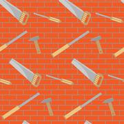 Carpentry tools pattern design Stock Illustration