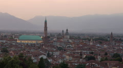 Vicenza - Timelapse from sunset to dusk - stock footage