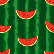 Watermelon background. Seamless, endless - stock illustration