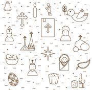 Christianity seamless background Stock Illustration