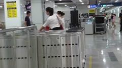 Shenzhen Metro Line 11, Bihaiwan Metro Station Stock Footage