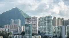 Timelapse Top View Of Hong Kong Apartment Buildings In A Second Tier City-Dan Stock Footage