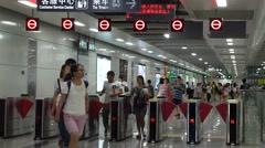 Shenzhen Metro Line 11, Bihaiwan Metro Station - stock footage