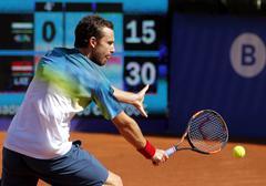 Latvian tennis player Ernests Gulbis - stock photo