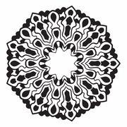 Mandala. Abstract Vector Decoration. Stock Illustration