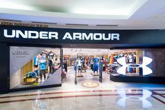 Under Armour store in Suria KLCC mall, Kuala Lumpur Stock Photos