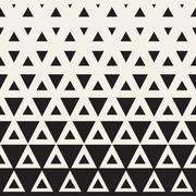 Vector Seamless Black and White Triangle Halftone Pattern Stock Illustration