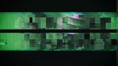 Looping Tv glitch animation, digital television screen distortions - stock footage