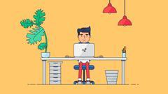 Creative Tech Workspace Stock Illustration