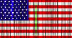 High quality animation perfectly curtain with united states of america Stock Footage