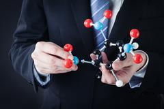 Assembling a tnt molecular structure Stock Photos