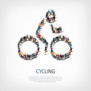 people sports cycling vector - stock illustration