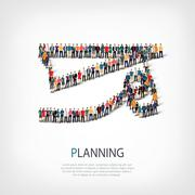 people sports planning vector - stock illustration
