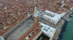 Aerial View of Venice, st Mark's Square Stock Footage