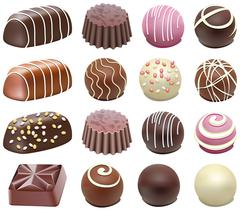 chocolate candies - stock illustration