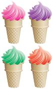 Icecream cones Stock Illustration