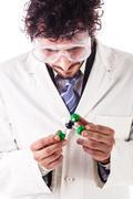 Holding chloroform molecular structure Stock Photos